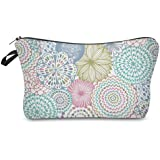 Cosmetic Bag for Women,Deanfun Mandala Flowers Waterproof Makeup Bags Roomy Toiletry Pouch Travel Accessories Gifts…