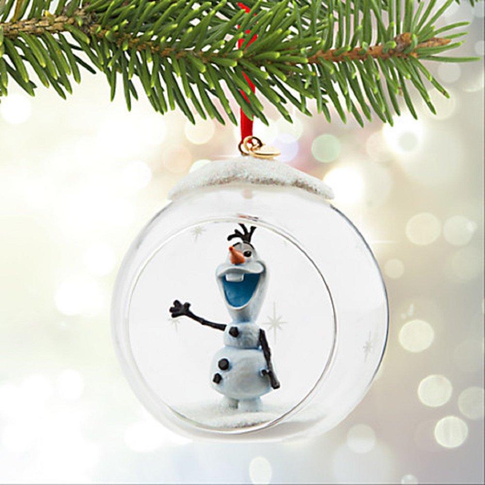 Disney Store 2016 Frozen Olaf Glass Globe 2015 Sketchbook ...