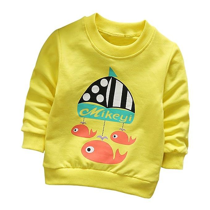 604ea278b 🍭 Camisetas para 0-3 Años, 🌸 Zolimx Niñas Niños de Manga Larga de Dibujos  Animados Perro Tops Suaves Camiseta Sudaderas Bebé Reborn Ropa de Abrigo:  ...