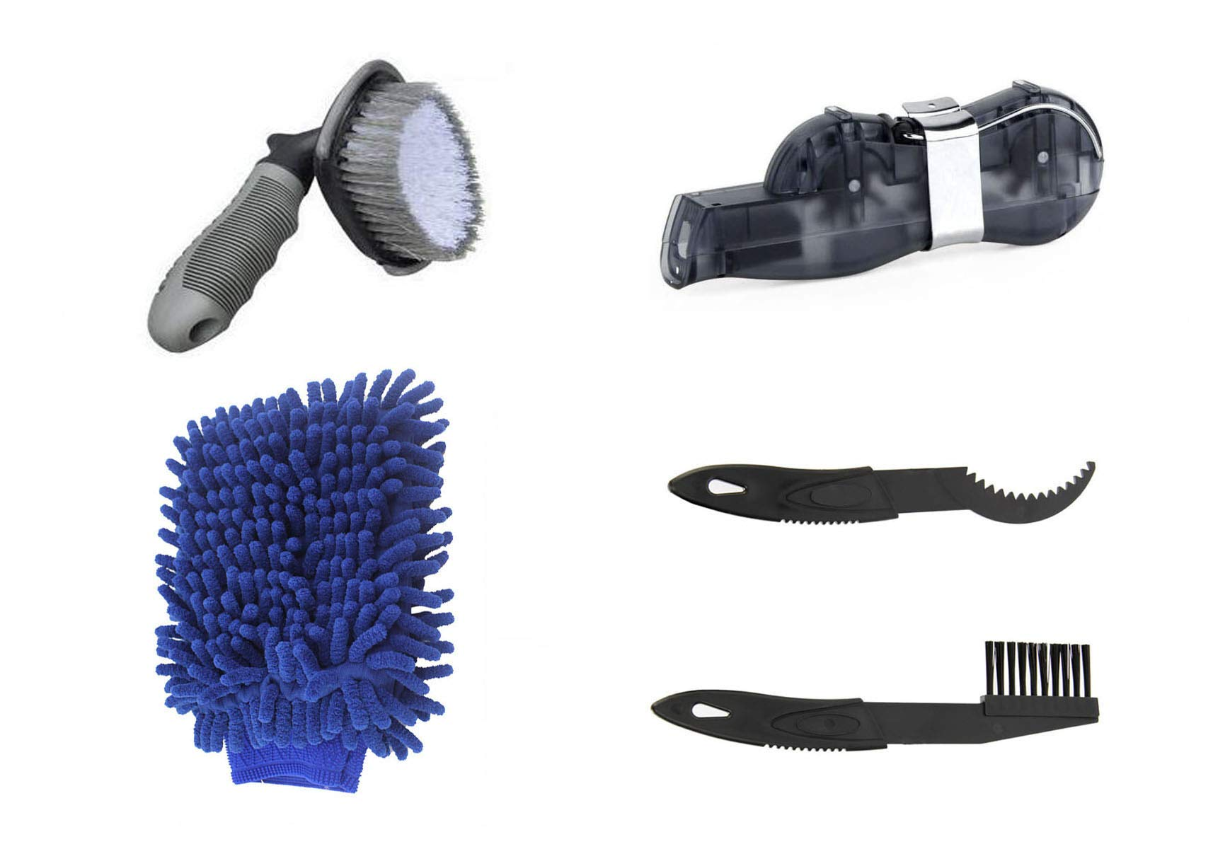 HAPTIME 5 Pcs Bicycle Clean Brush Kit/Cleaning Tools for Bike Chain/Crank/Tire/Sprocket Cycling Corner Stain Dirt