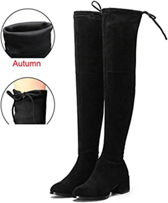 Knee Boots Women Winter Thigh Lace