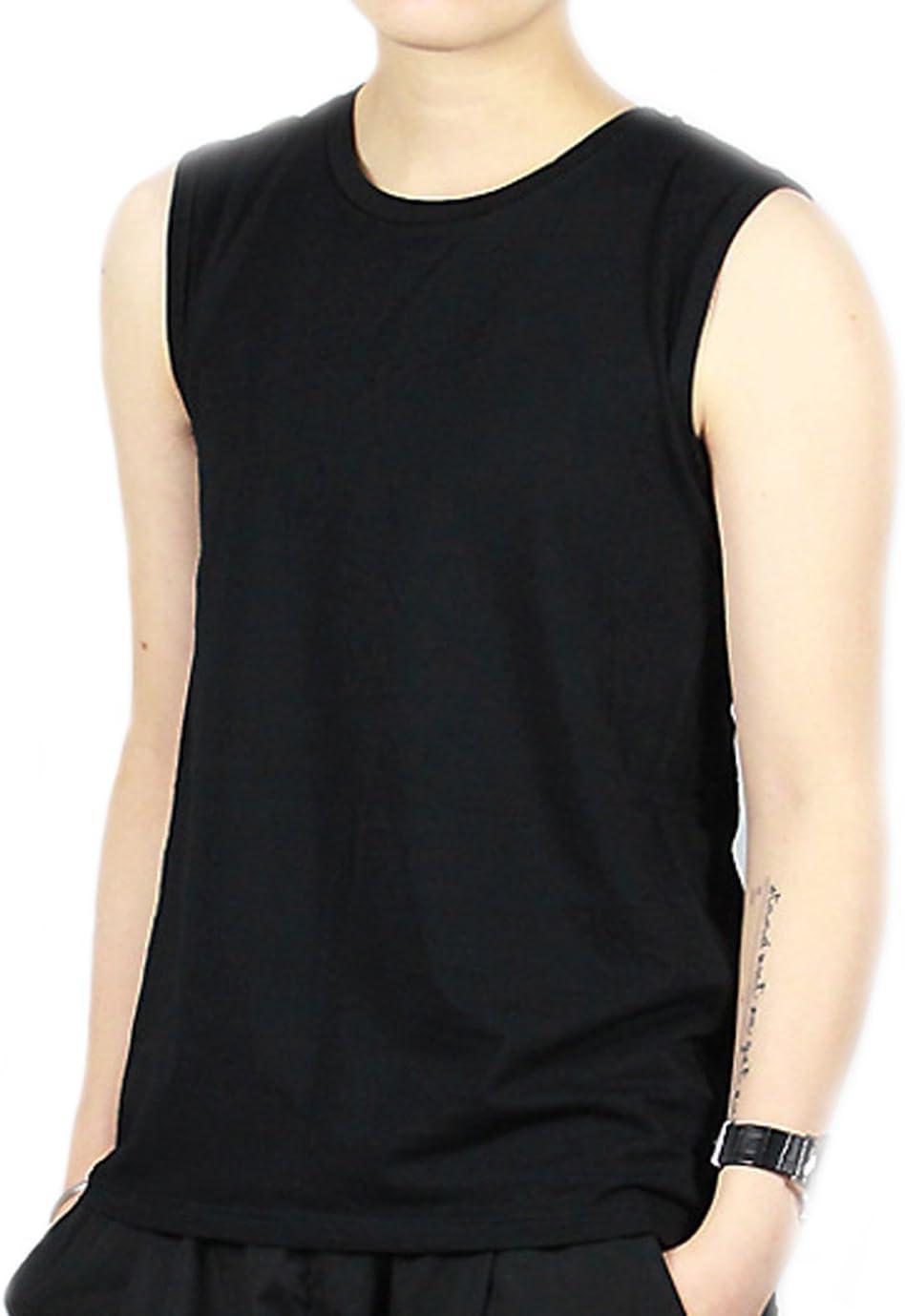バロン・ホン女性トランスレズビアン・トゥンボイコットンカラフルなタンクトップベスト・チェスト・バインダーより強い包帯(黒、M)