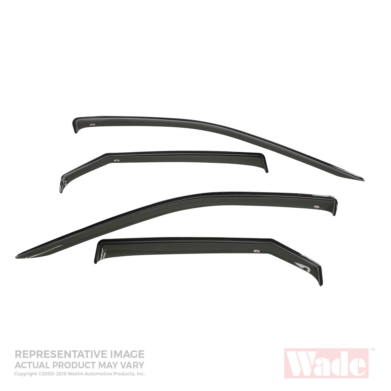 Wade 72-35428 Smoke Slim Wind Deflector (4pc)