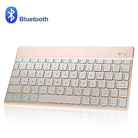 Dingrich Teclado Inalámbrico Bluetooth, Universal Teclado 7 ...