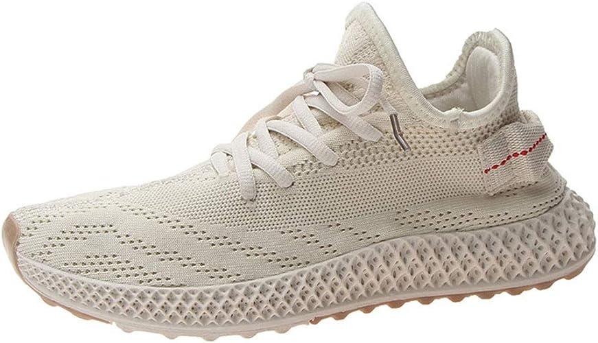 Whyeasy - Zapatillas de Running para Mujer, Transpirables, Fondo, Beige (Beige), 37 EU: Amazon.es: Zapatos y complementos