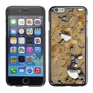 TopCaseStore / la caja del caucho duro de la cubierta de protección de la piel - Sea Beach Interesting Contour Geology - Apple iPhone 6