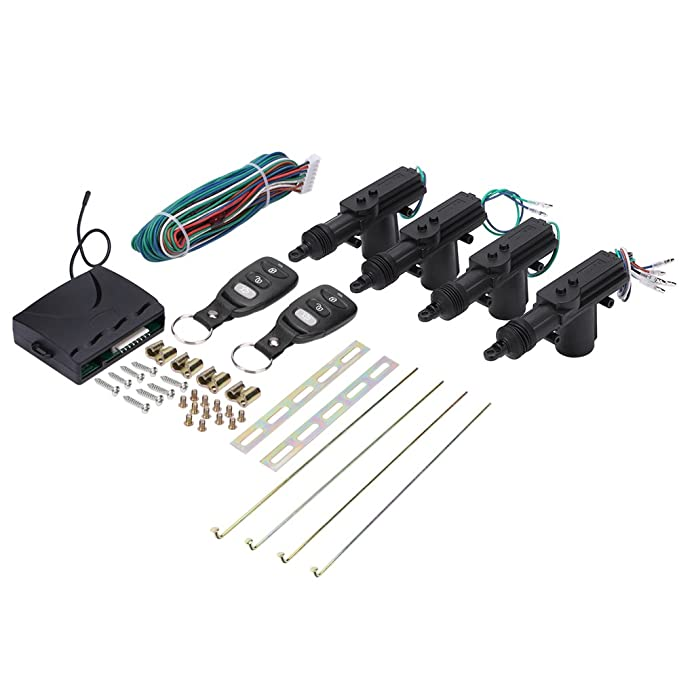 Amazon.com: Remote Lock Kit, Universal Car Remote Control 4 ...