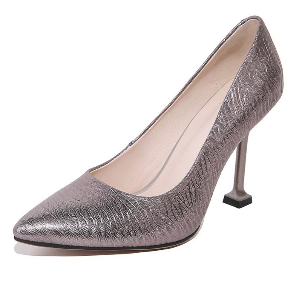 Damen Gericht Schuhe Knöchel Knöchel Knöchel Spitz Zehe Stilett Hoch Absätze rot Silber Mode Kleid Party Pumps Groß Größe 35-44 8c994a
