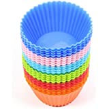 Seluna 24-pcs Cupcake Liners Mold 8-Colors Muffin Silicone Mold Cup Cake Tool Bakeware Baking Pastry Tools Kitchen Gadgets