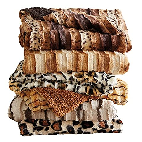 Brylanehome Faux Fur Animal Print Throw (Ocelot Print,0) - Ocelot Faux Fur