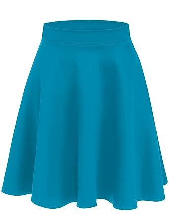 a4295c05e2 Simlu Womens Skater Skirt, A Line Flared Skirt Reg & Plus Size Skater Skirts  USA Turqoise - Midi Small: Amazon.co.uk: Clothing