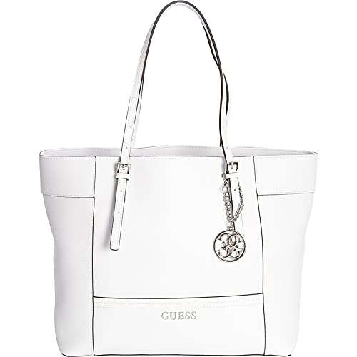 c53103541d4 Amazon.com  Guess Women s Delaney Medium Tote Bag, White  Shoes