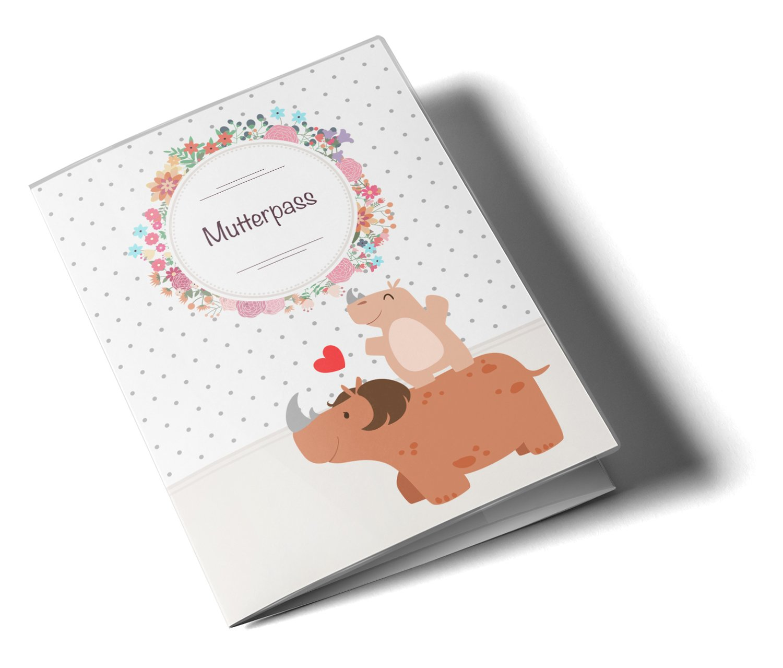 Deutschland Mutterpass ohne Personalisierung, Elefant Mutterpassh/ülle 3-teilig Mommy Love Dots Schutzh/ülle tolle Geschenkidee