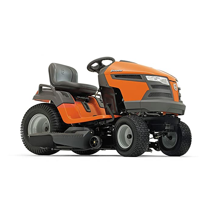 "Husqvarna 960430211 YTA18542 18.5 HP Fast Continuously Variable Transmission Pedal Tractor Mower, 42""; best garden tractor"