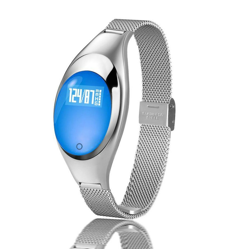 Fitness Tracker Watch,JIAMEIYI Z18 Women Sleep Monitor Smart Bracelet with Intelligents Heart Rate Blood Pressure Monitor for IOS and Android (Silver)