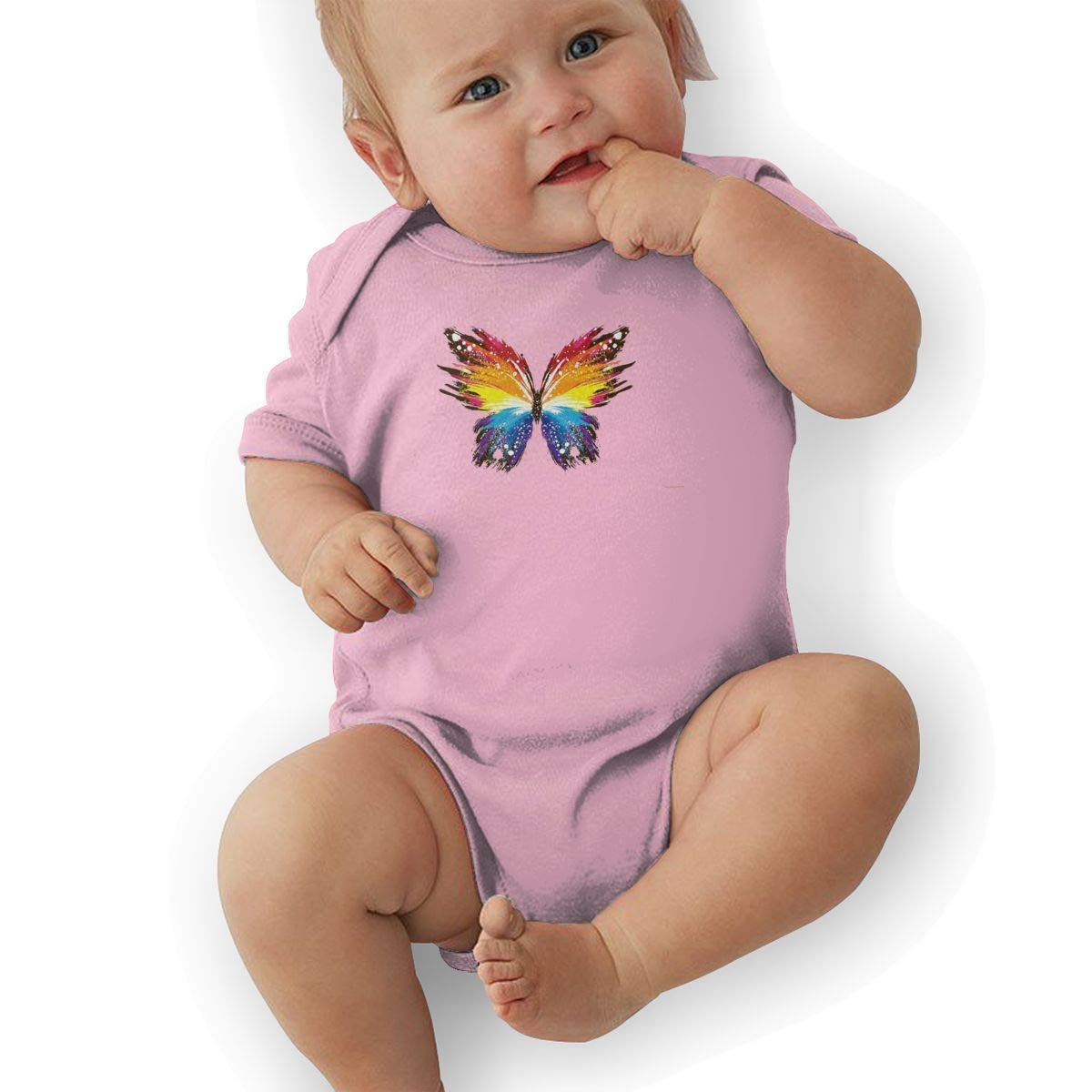 Colorful Butterfly Print Baby Onesies Toddler Baby Girl//Boy Unisex Clothes Romper Jumpsuit Bodysuit One Piece