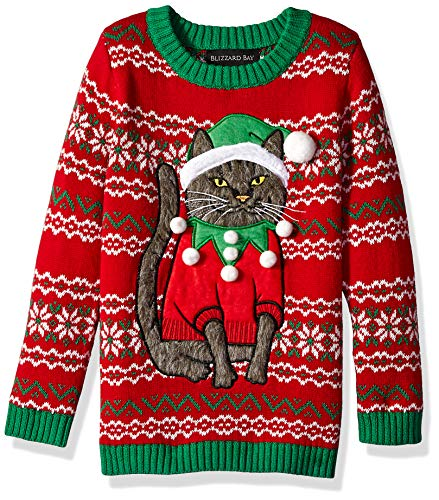 Cat Ugly Christmas Sweater - Blizzard Bay Boys' Big Bow Tie