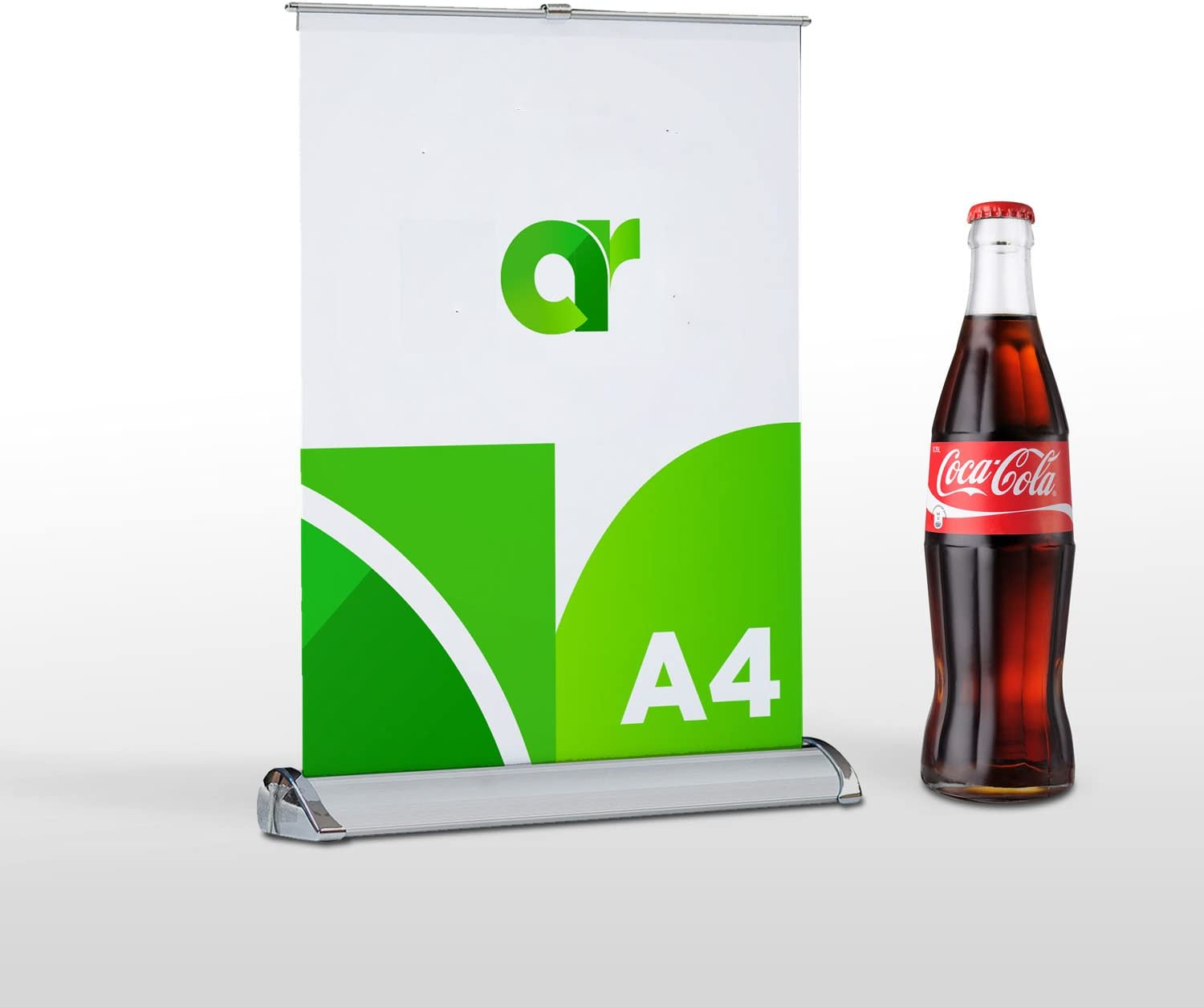 Banners are not Included Fits 8 1//2in x 11 1//2in Banners 7 pcs,A4,Mini Table Top Retractable Banner Stands Includes 5 Banner Stands