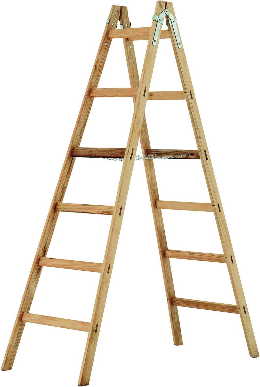Stehleiter Holz 2x4 Sprossen 140 cm
