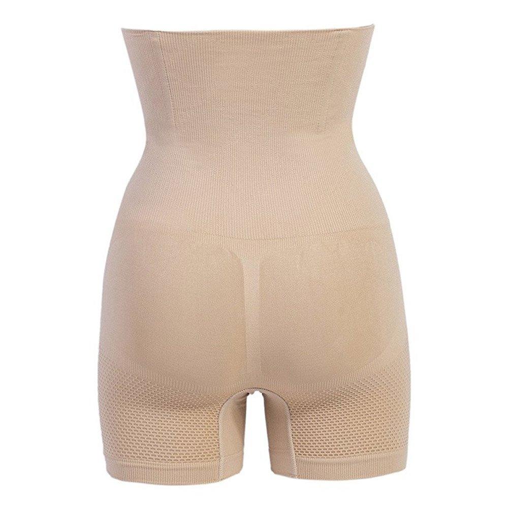 Miss-Loly Women\'s Mid Thigh Shapewear Hi-Waist Tummy Control with Butt Compression Shorts Nude XL/2XL