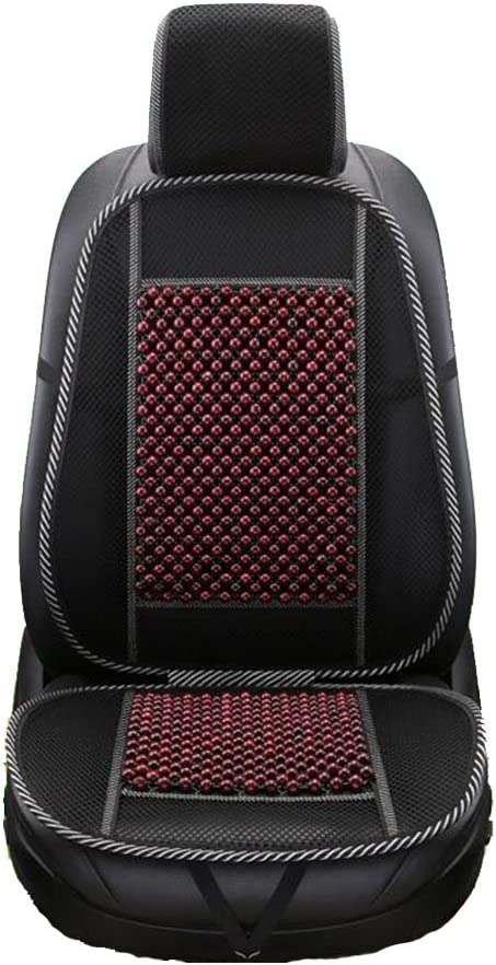Car Seat Pad Summer Universal Wooden Beads Cool Pad Car Interior Seat Cushion For Driver Lumbar Neck Hip Pain Back Support,Brown