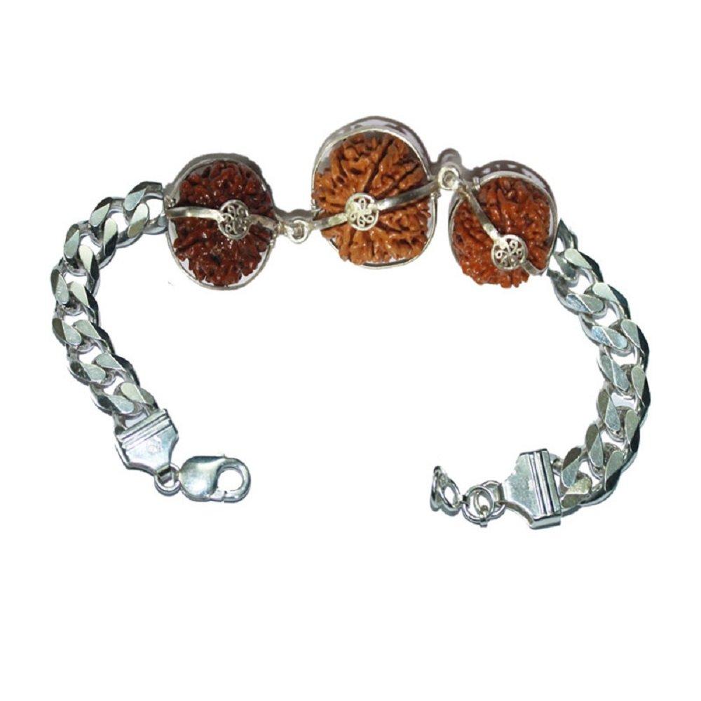 Rudraksha Bracelet For Business Pure 925 Silver 6,8,15 Mukhi Nepal Certified
