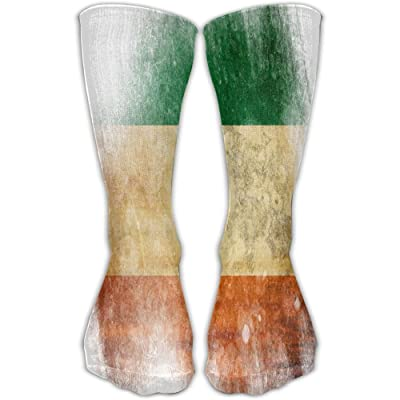 ZZHZMH Thigh High Socks Flag Of Irland Funny Crew Workout Athletic Knee High Stockings 30cm