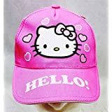 Baseball Cap - Hello Kitty - Pink Heart Pink Hat Kid Girls New HEK3938P