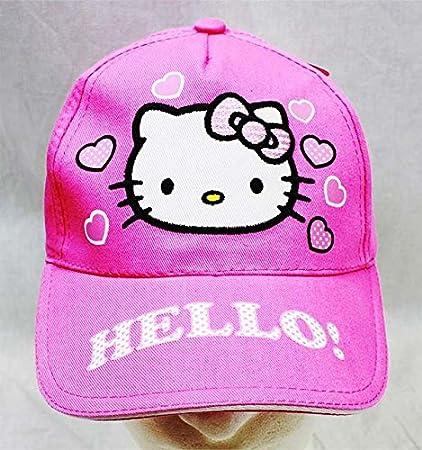 a2edf7ff7 Amazon.com: Baseball Cap - Hello Kitty - Pink Heart Pink Hat Kid Girls New  HEK3938P: Toys & Games