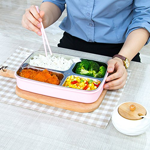 Modalee 304 Stainless Steel Box Lunch Box Insulation Partition Plate Heating Lunch Box Insulation Double Layer Easy To - Partition Case Soft