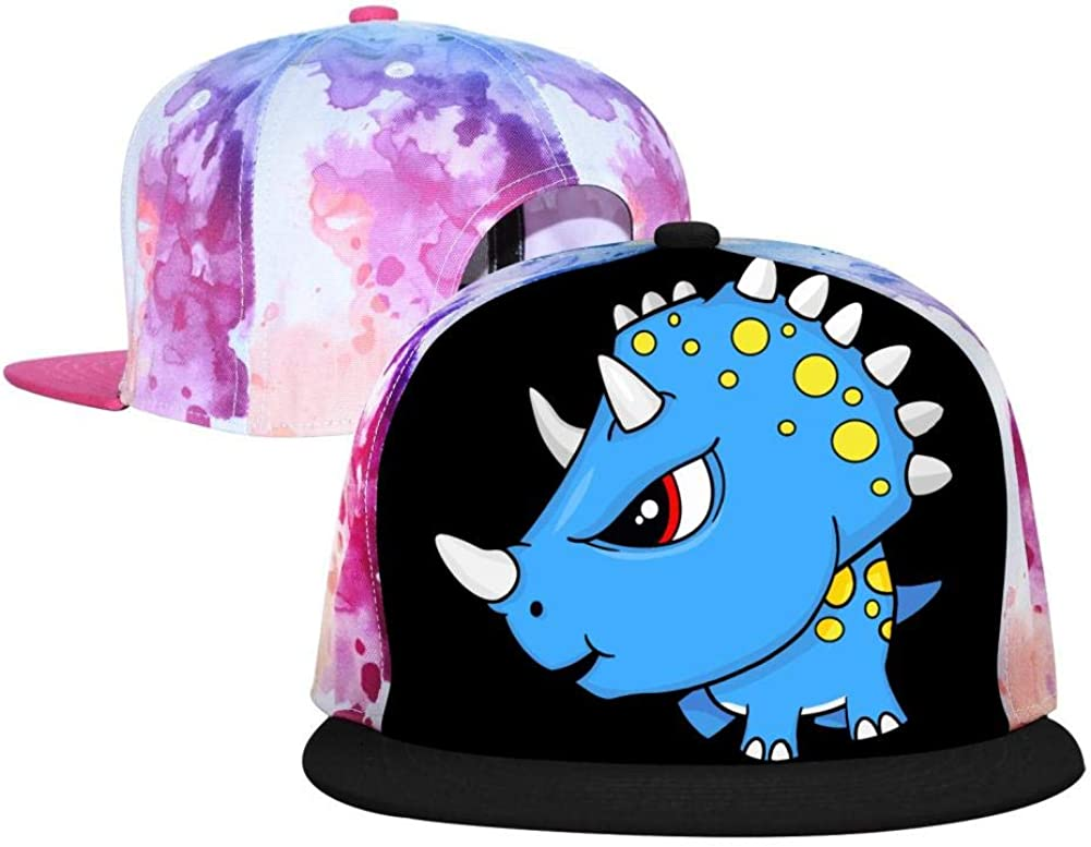Adjustable Snapback Hats Unisex Flat Brim Caps for Men Women Boys Girls GCASST Flaming Skull Baseball Cap