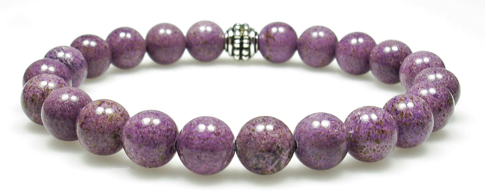 STICHTITE 8mm Round Genuine Crystal Gemstone Beaded Bracelet on Elastic Cord