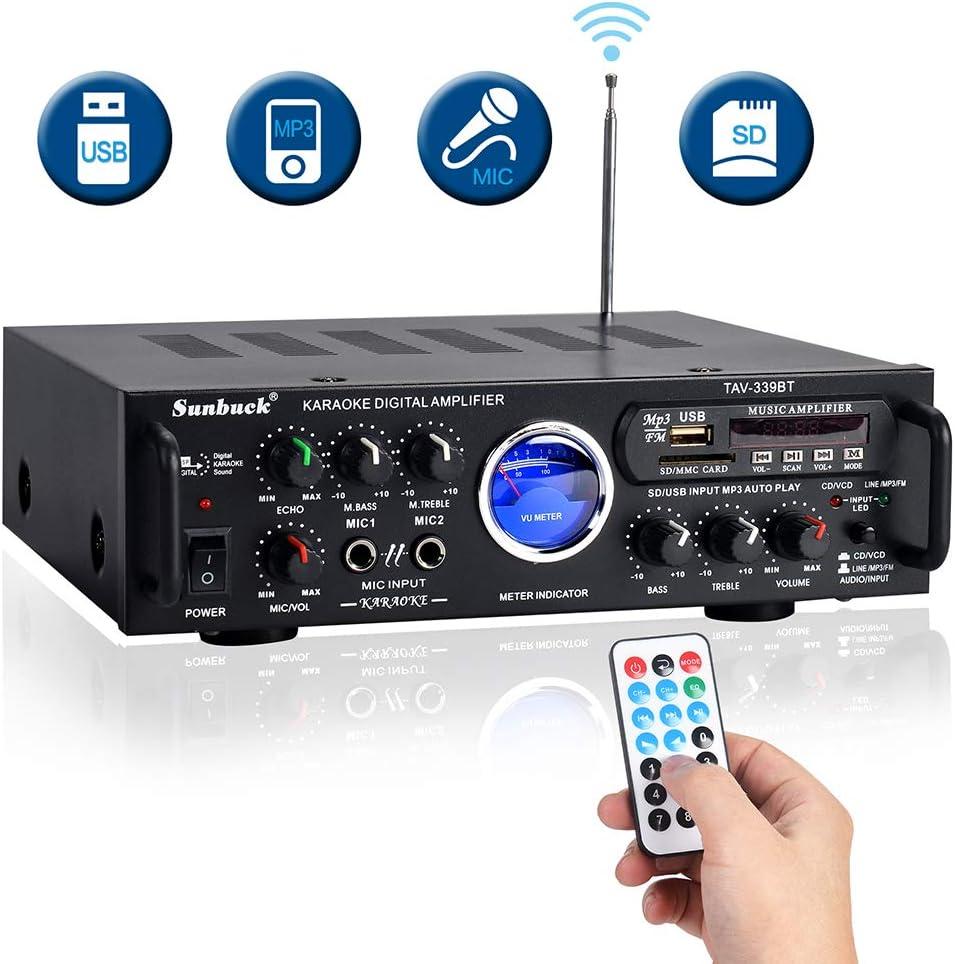 Amplificador inalámbrico de Karaoke Bluetooth-Sistema de Receptor ...