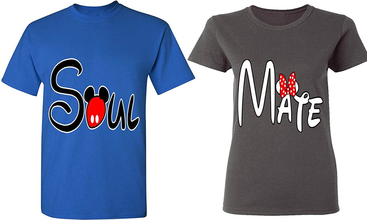 8fdb8431cc Amazon.com: Soul Mate - Matching Couple Shirts - His and Her T-Shirts - Tees:  Clothing