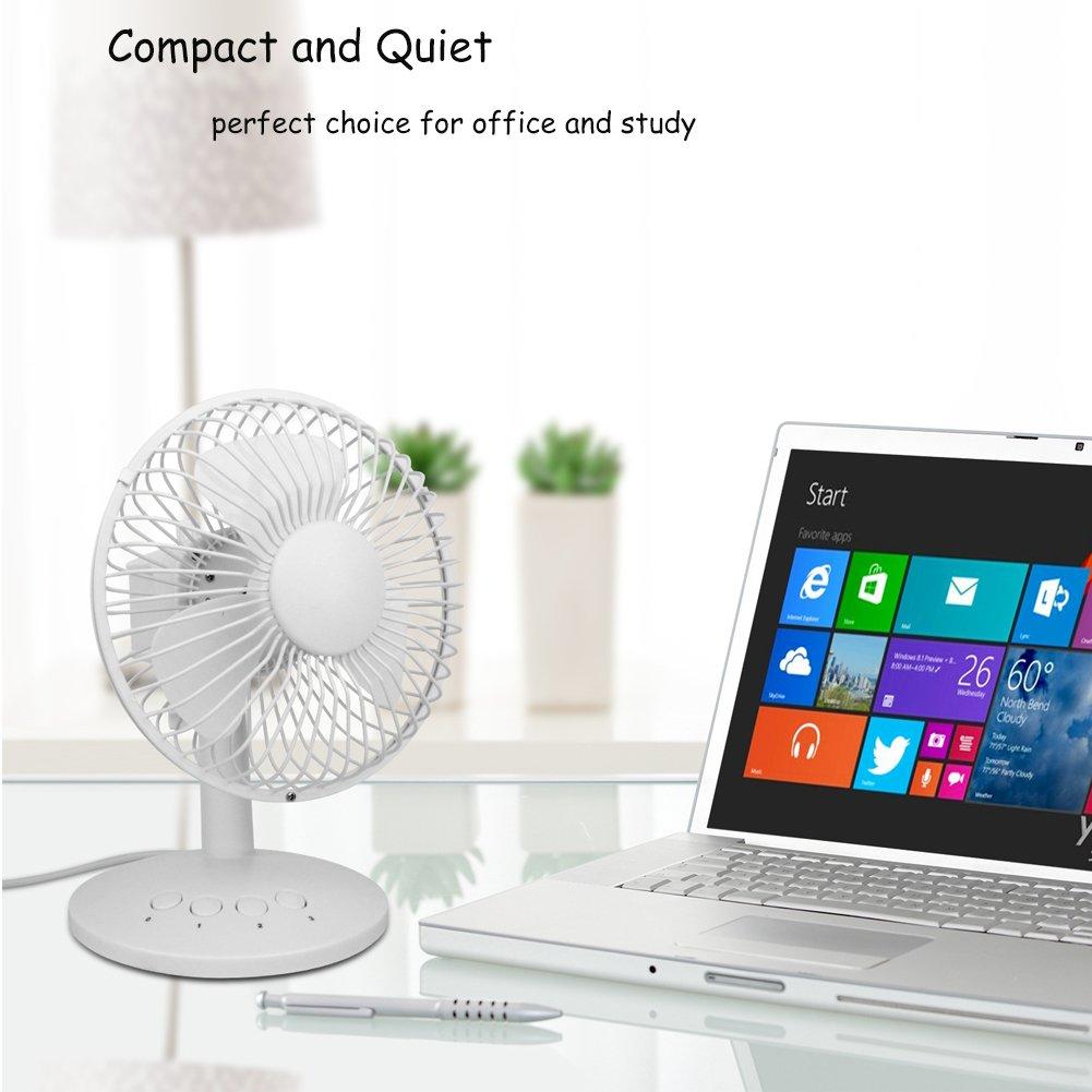 Bedroom,Baby Sleeping,Household 6930069079263 3 Speed Settings Yopin Oscillating Fan Quiet Battery Operated Fan /& USB Fan with 70 Degree Oscillation Adjustable Tilt Desk Fan Battery Fan for Office