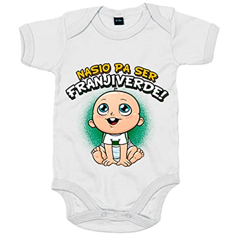 Body bebé nacido para ser Franjiverde Elche fútbol - Blanco ...