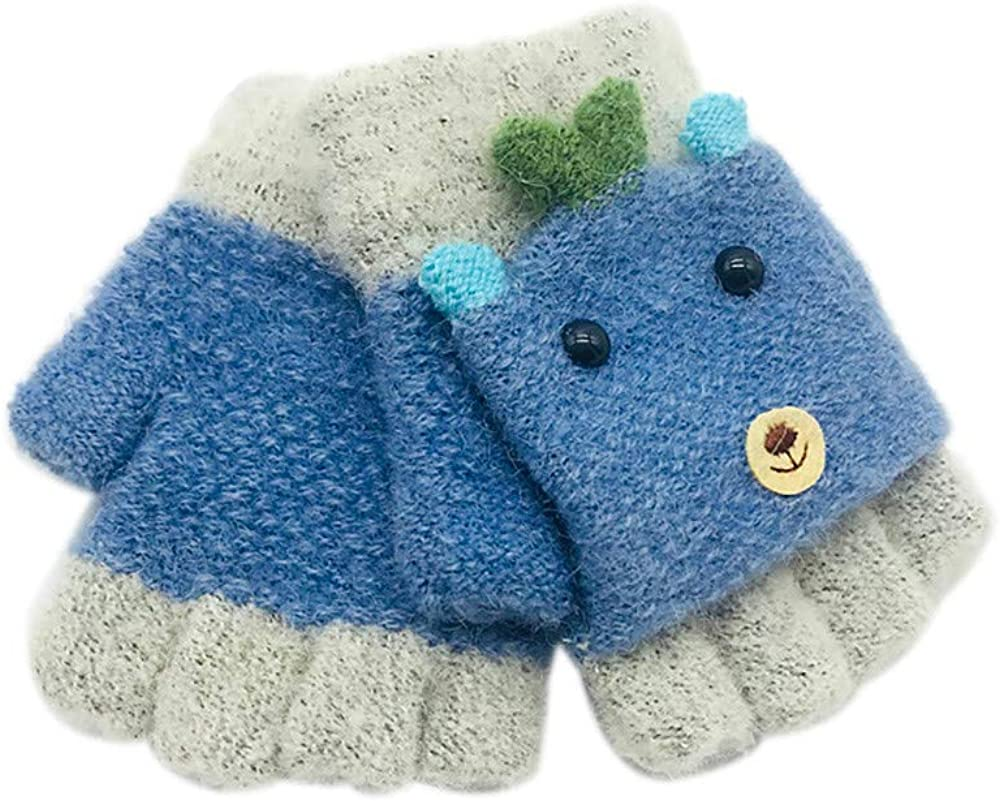 FORESTIME/_baby clothes girl Cute Baby Mittens Thicken Patchwork Winter Warm Suede Thermal Insulation Mittens Gloves
