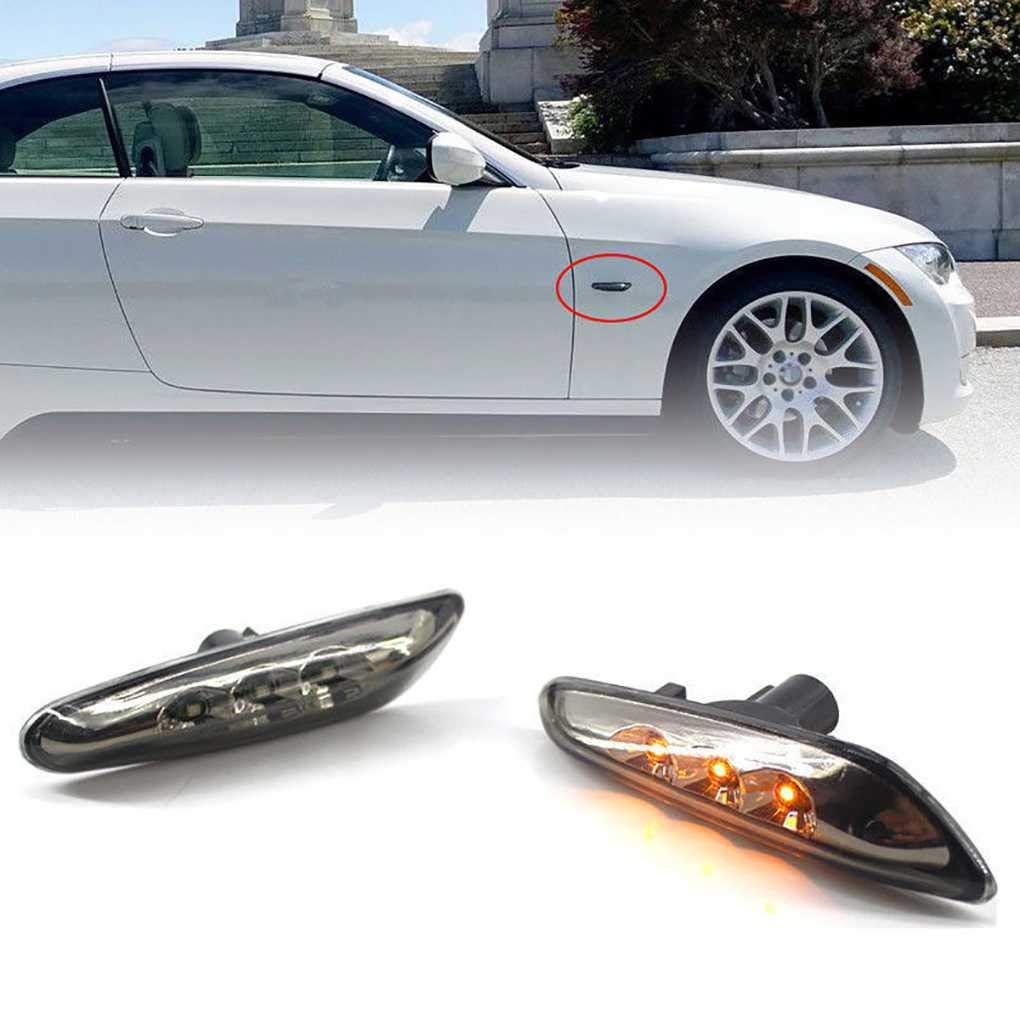 1 Pair LED Side Marker Light Fender Black Panel 63137253325//63137253326 Replacement for BMW 3 Series E46 E90 E92 E93 Z4 Miaomiaogo
