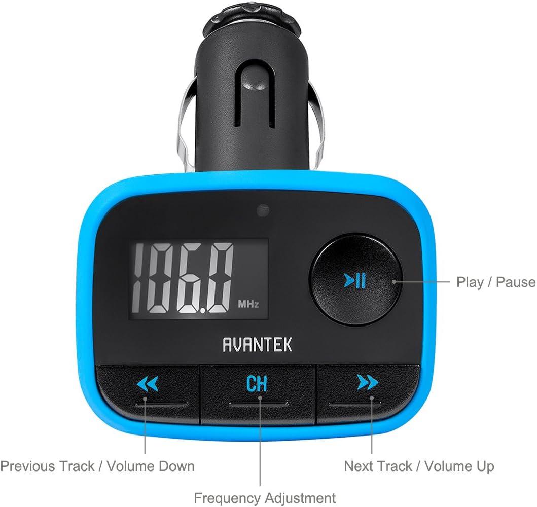 MP3 Player Radio Adapter Car Charger AVANTEK Bluetooth FM Transmitter