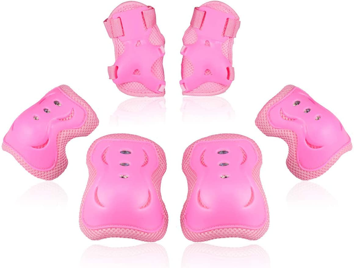 Kids//Youth Knee Pad Elbow Pads Guards Protective Gear Set for Roller Skates Cycling BMX Bike Skateboard Inline Skatings Scooter Riding Sports