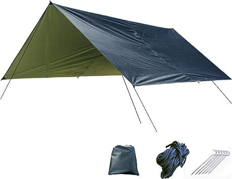 TRIWONDER Toldo Impermeable Camping Lona de Suelo Refugio Sombrilla Estera para Senderismo Tienda de Campa/ña Picnic al Aire Libre