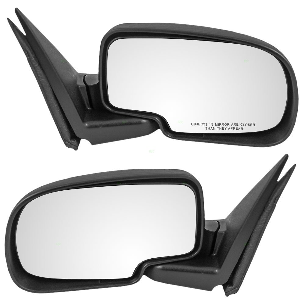 Driver and Passenger Manual Side View Mirrors Replacement for Chevrolet GMC Pickup Truck SUV 5876714 25876715