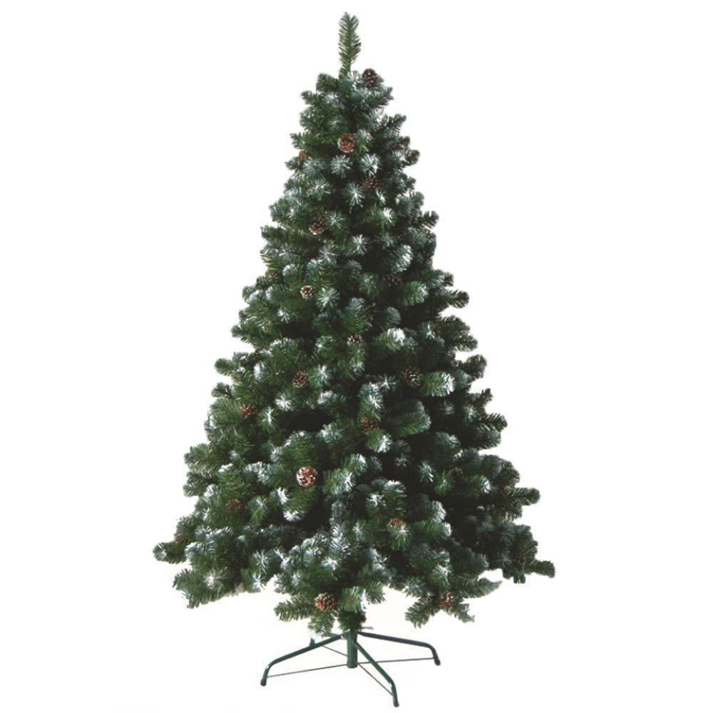 HENGMEI 240cm PVC Weihnachtsbaum Tannenbaum Christbaum Grün künstlicher mit Metallständer ca. 1028 Spitzen Lena Weihnachtsdeko (Grün PVC mit Schnee-Effekt, 240cm)
