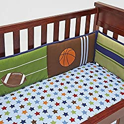 NoJo 4-Piece Secure-Me Crib Bumper - High-Five Sport