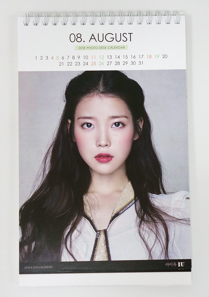 IU   2018 2019 PHOTO DESK CALENDAR: IU: Amazon.com: Books