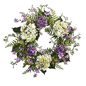 "24"" Hydrangea Berry Wreath 3"