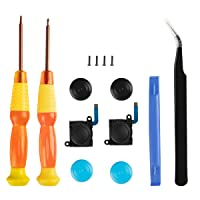 Joy con Repair Kit, YCCTEAM Switch Joystick Replacement Analog Thumb Stick for Nintendo Switch Joycon Controller- include 2 New Joysticks,Tri-Wing & Cross Screwdriver Tool + 4 Thumbstick Caps