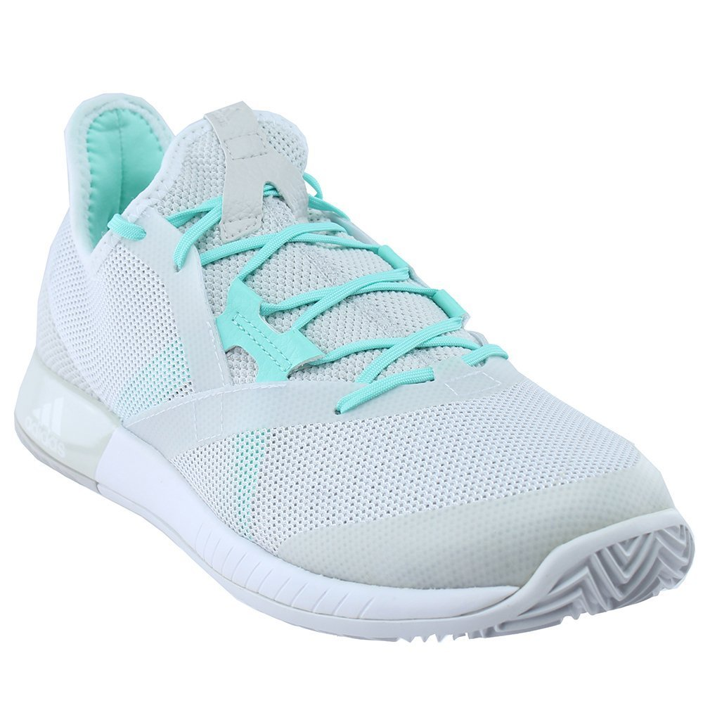 adidas Women's Shoes | Adizero Defiant Bounce Tennis, White/White/Grey One, (9.5 M US)