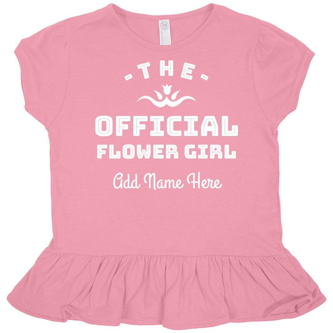 Official Flower Girl: Toddler Rabbit Skins Ruffle Fine Jersey Tee