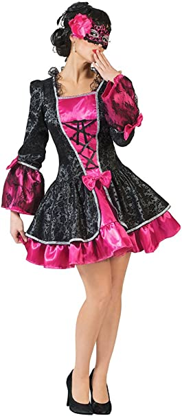 Barroco Disfraz Vicky para mujer – Rococó Mini vestido Envuelto en ...